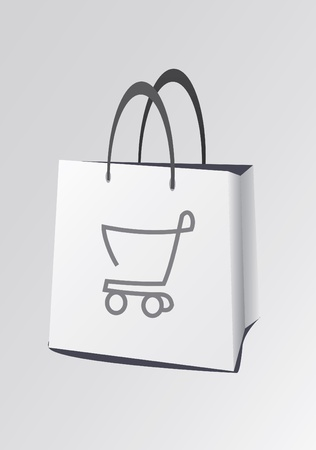 white paper bag: bag for shopping