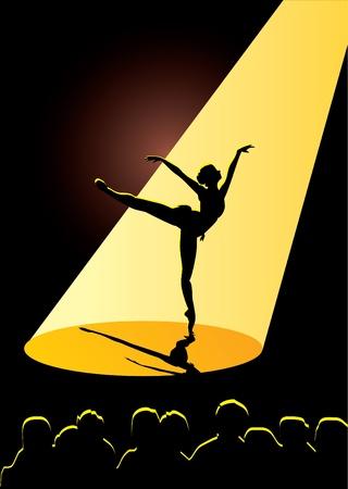 classic dance: bailarina en el teatro