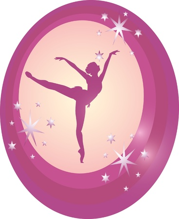 purple ballerina  Vector