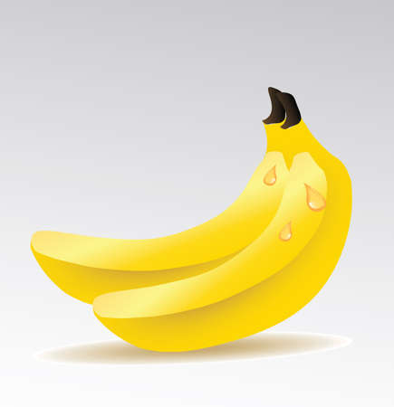 rich in vitamins: bananas isolated  Illustration