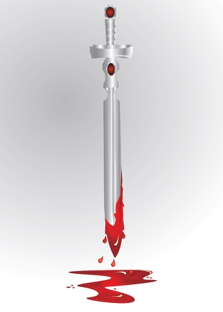 bloody silver sword  Vector