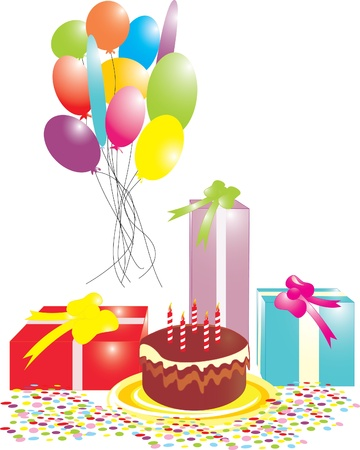 birthday card isolated  Vector