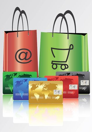 bags for shopping with credit cards Vector