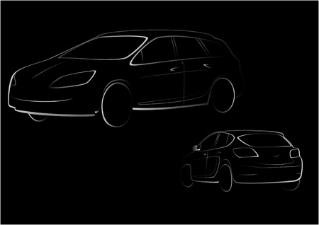 black car outline Vector