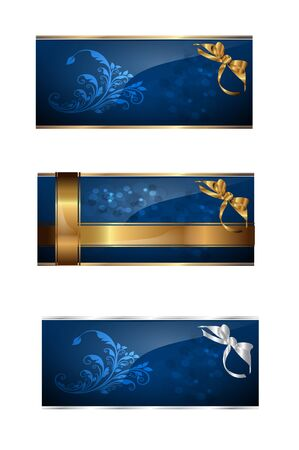 blue cards Vector