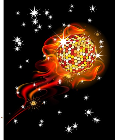 boll: burning disco boll