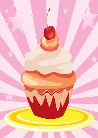 homemade cake: cherry cup cake