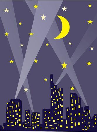 city lights: city lights at night Illustration