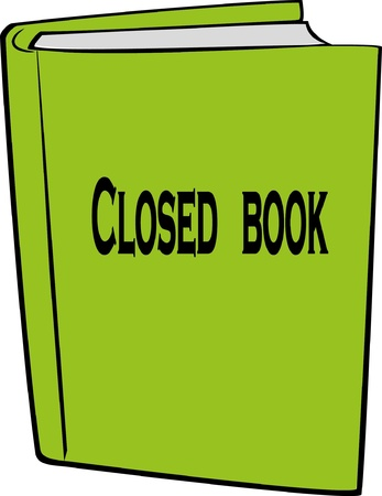 hardcover: close book