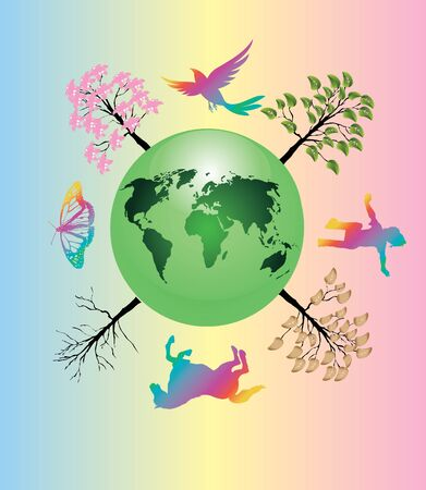 colorful earth Vector
