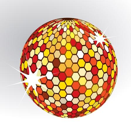 boll: disco boll isolated