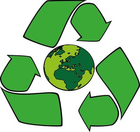 conciencia ambiental: mundo respetuoso del medio ambiente Vectores