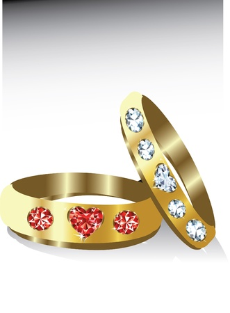 jewelry design: golden rings