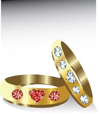 golden rings Vector