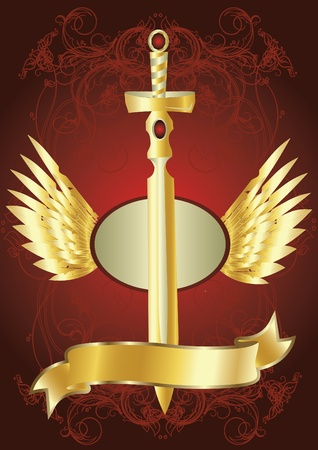 golden sword Иллюстрация