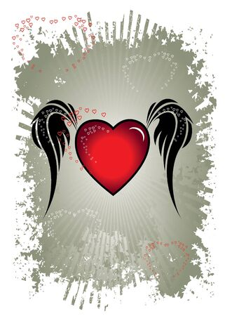angelical: heart with wings