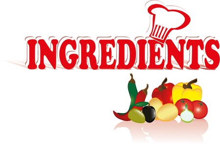 ingredients Иллюстрация