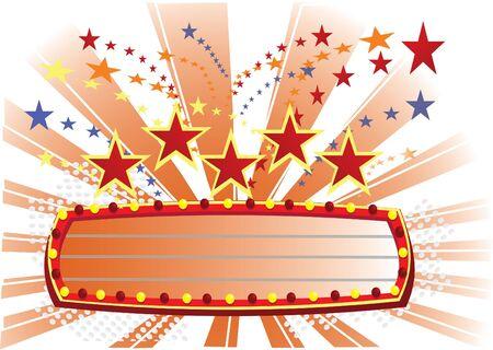 movie time orange Stock Vector - 12827810