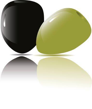 salatdressing: Oliven Illustration