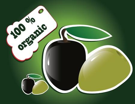 nectarine: organic olives Illustration