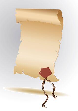 parchment paper: parchment paper Illustration