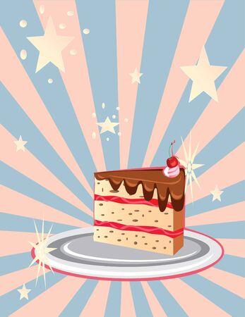 indulgent: piece of chocolate cake
