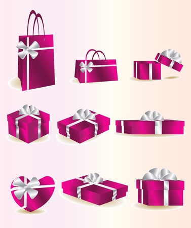 pink gifts Vector