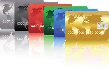 series of colorful credit cards Stock Vector - 13372385