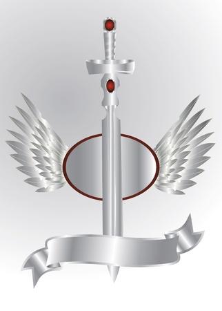 silver sword Vector