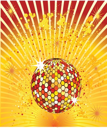 splash disco ball Vector