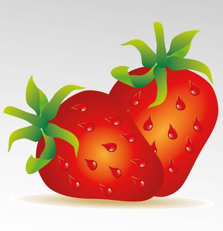 rich in vitamins: strawberry isolated