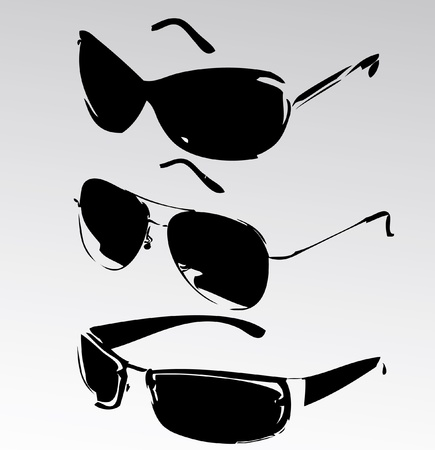 shades: sunglasses isolated Illustration