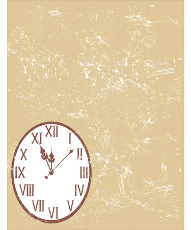 moments: vintage clock Illustration