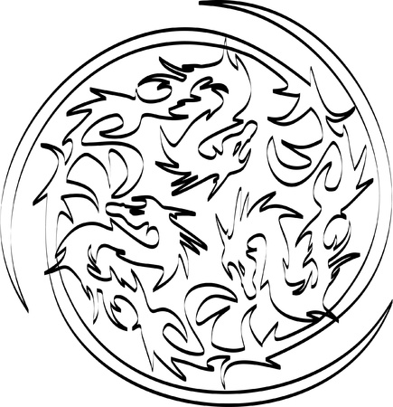 white dragons Stock Vector - 13372290
