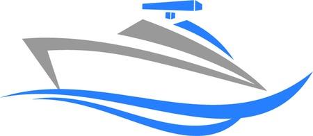 yacht isolated: lancha r?da