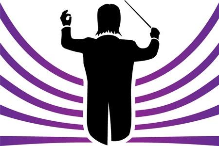 chef d orchestre: conducteur illustration isol� Illustration