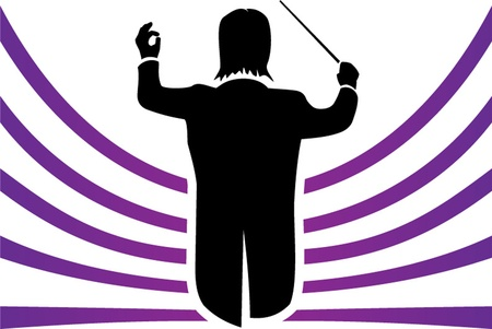 maestro: conductor isolated illustration Illustration