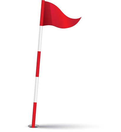 golf club: Vector illustration of a golf flag