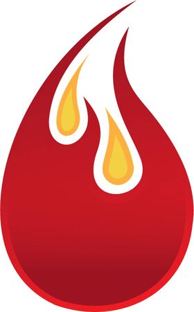 flaming oil drop Vector