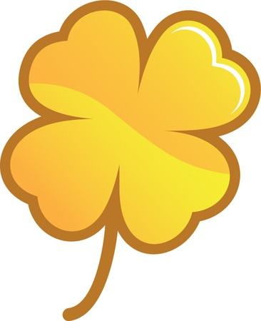 golden clover Vector
