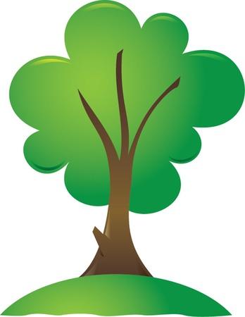 jungle scene: green tree Illustration
