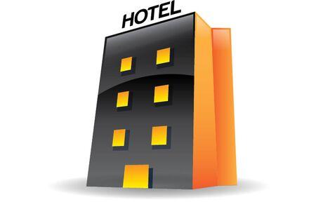 hotel isolated icon Illustration