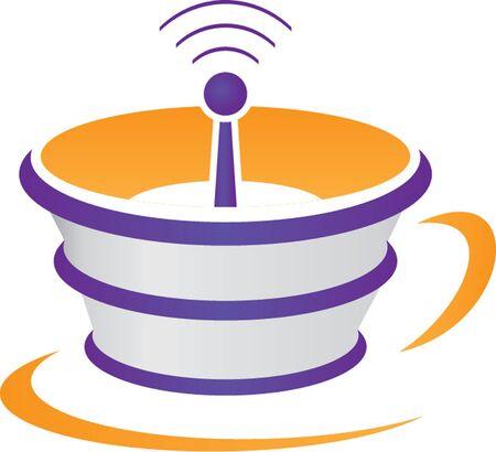 internet cafe: internet cafe Illustration