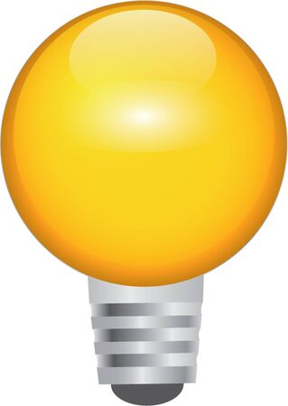 light bulb isolated illustration Vector