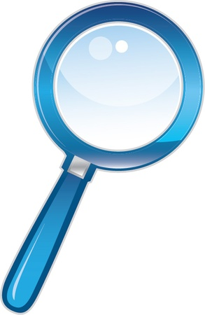 glass button: magnifying glass Illustration