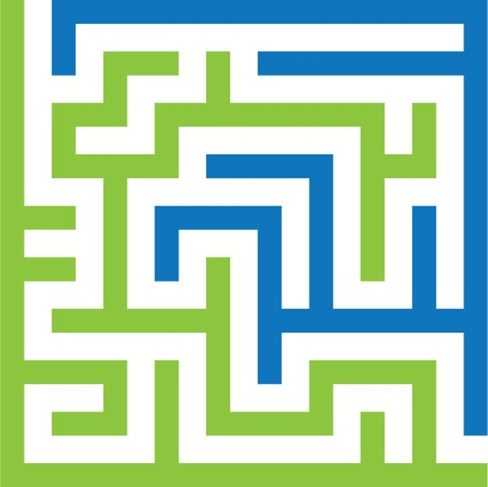 difficult to find: two colors maze