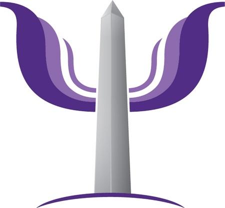 obelisk stone: obelisk with wings Illustration