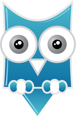 cute owl isolated Vector