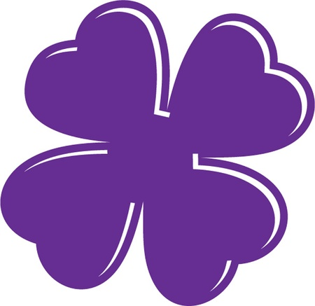 one color: purple clover