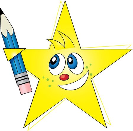 star with pen Vector